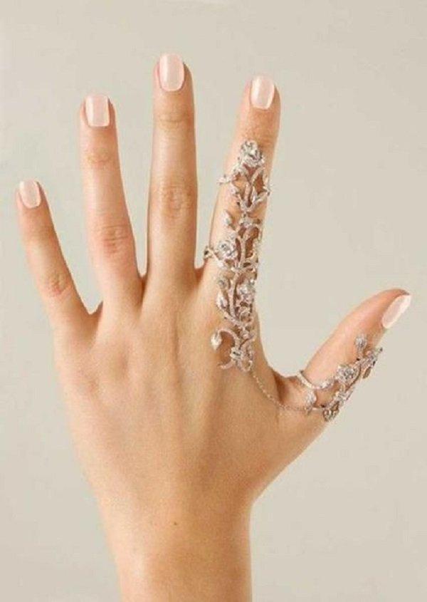 Кольцо на 2 пальца своими руками