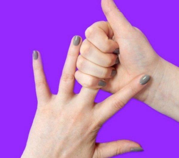 массирование среднего пальца
