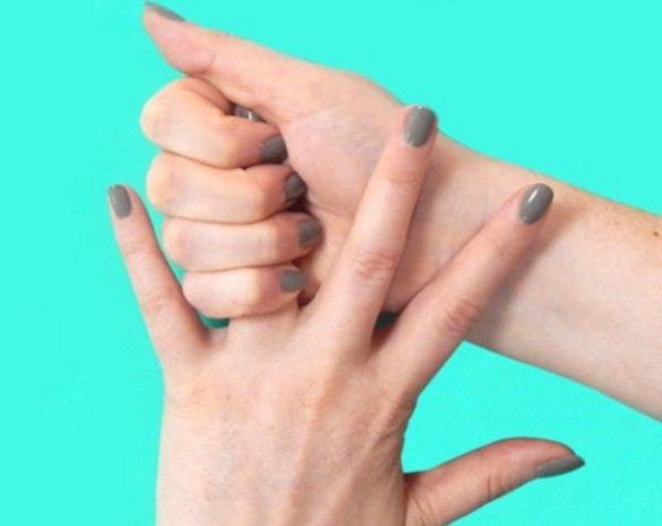 массирование безымянного пальца