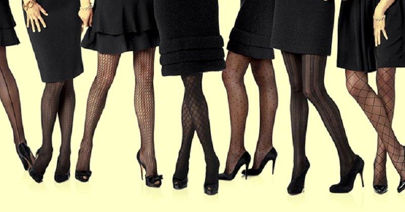ноги в колготках