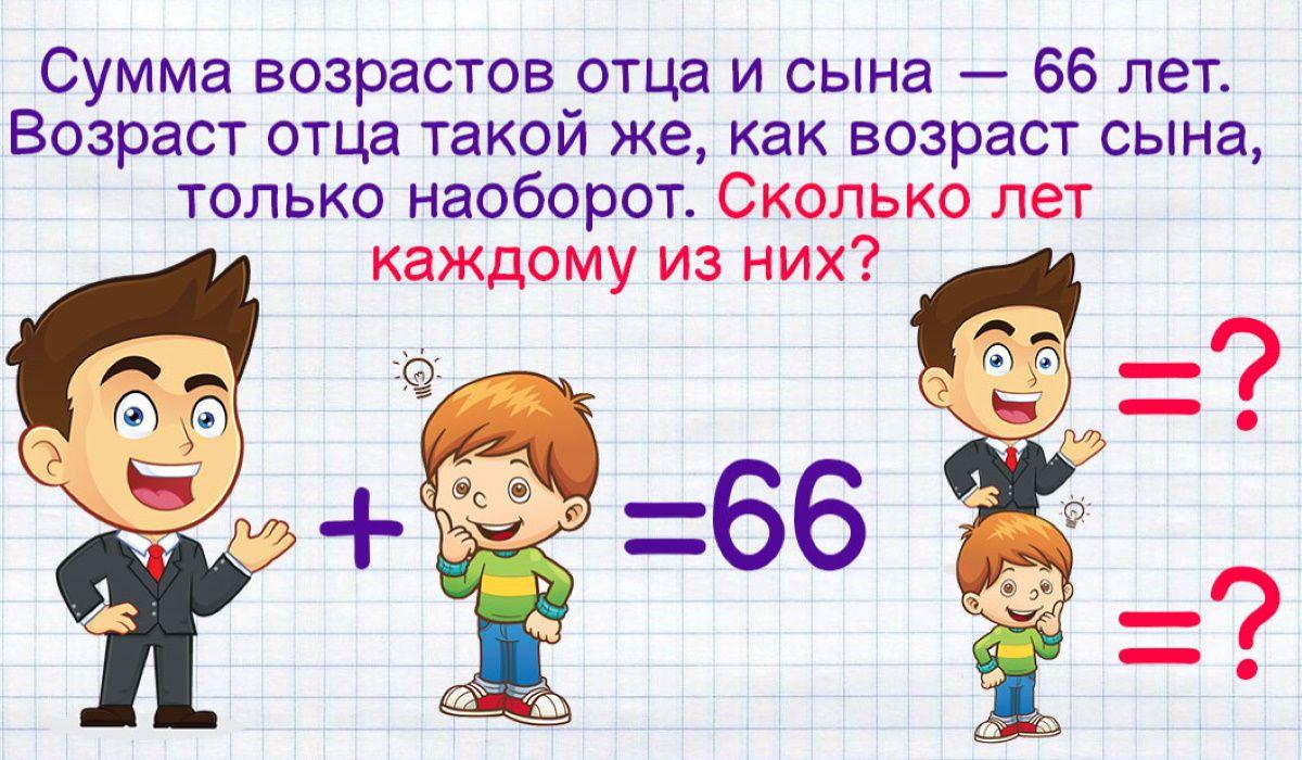 задачи на возраст