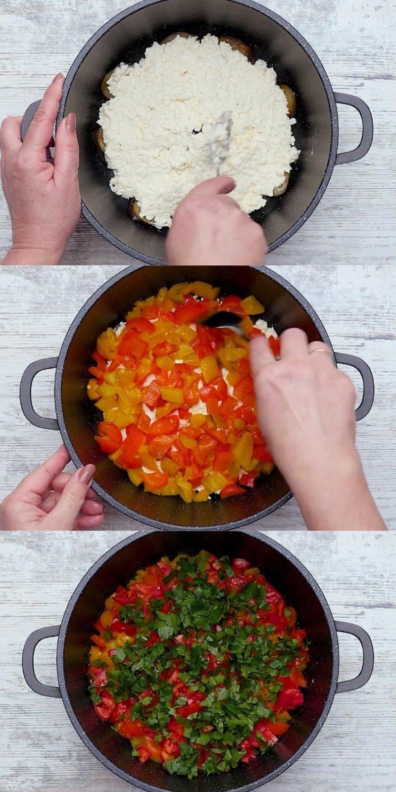 закуска из баклажанов с сыром чесноком и помидорами