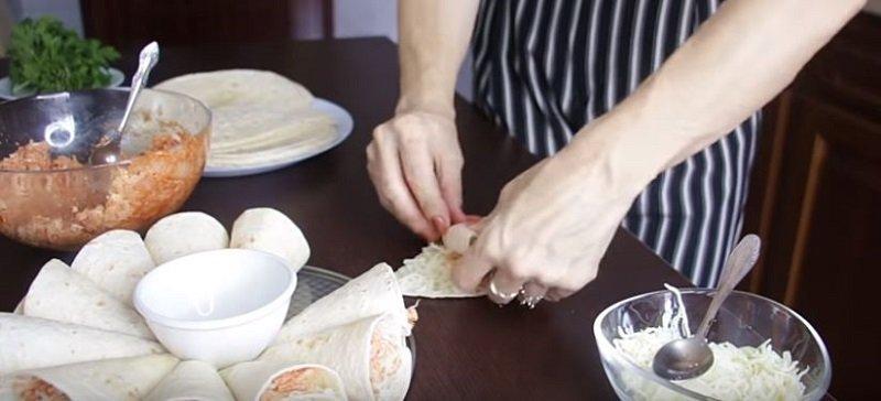 быстрые блюда из лаваша