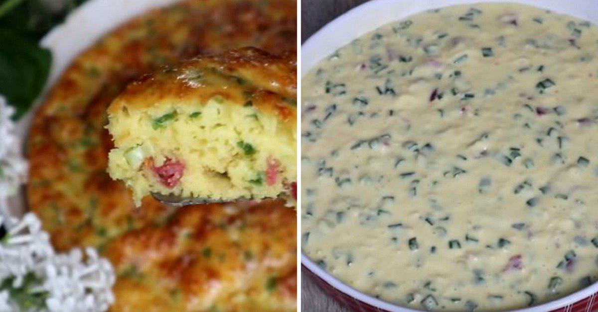 Рецепт заливного пирога на кефире с яйцом thumbnail