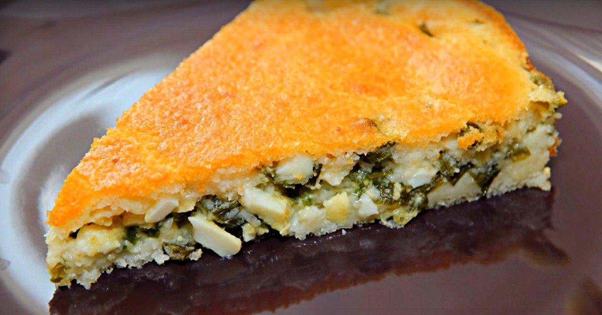 Сытный ужин для всей семьи за считаные минуты. Экспресс-рецепт заливного пирога.