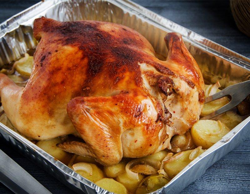 курица в духовке сколько времени