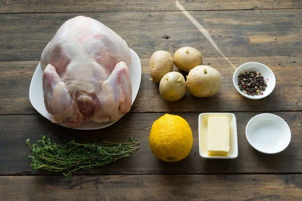 ингредиенты для запеченной курицы