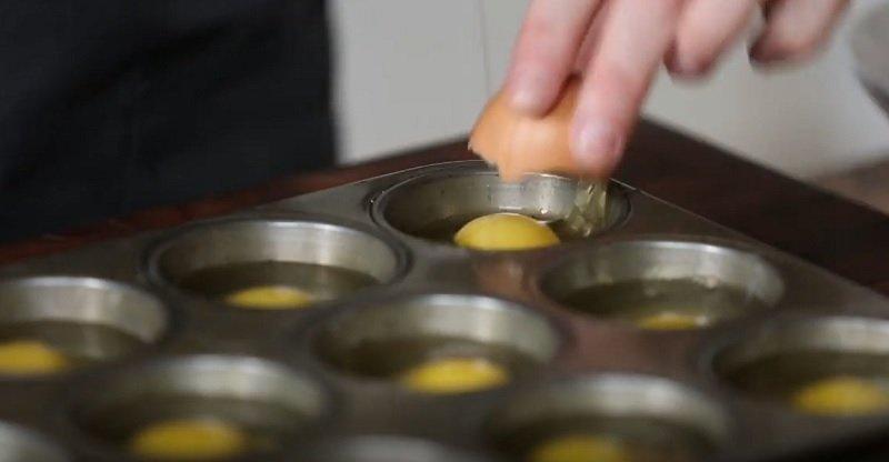 запеченные яйца