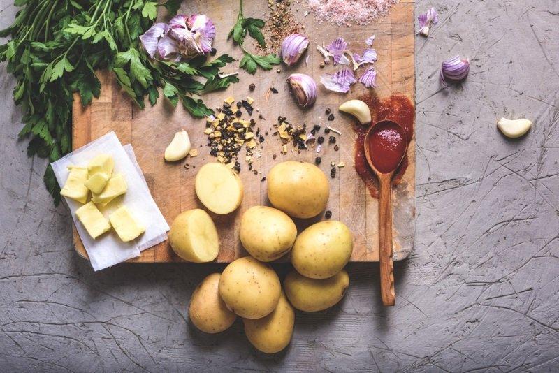 картофель запеченный без кожуры
