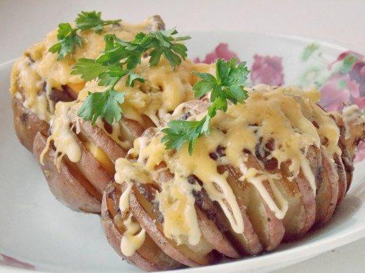Запеченный картофель с сыром и сметаной в духовке рецепт пошагово 148
