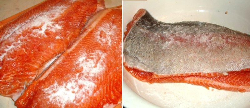 засолка красной рыбы