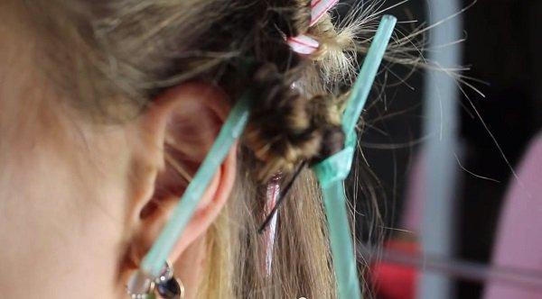 слама коса извиване