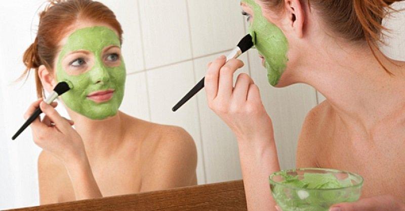 маска для лица из зелени