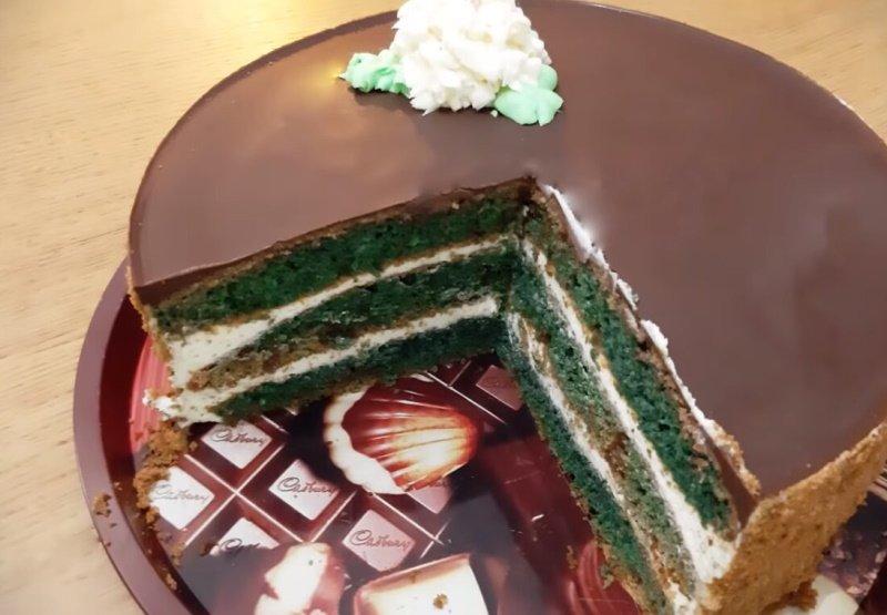 вкусный торт с халвой