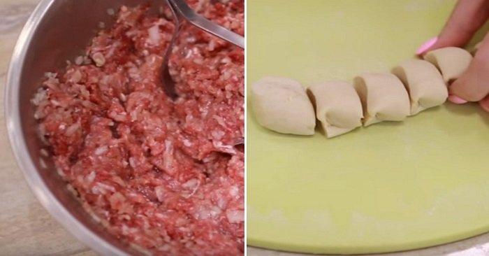 маленькие пирожки с мясом в духовке