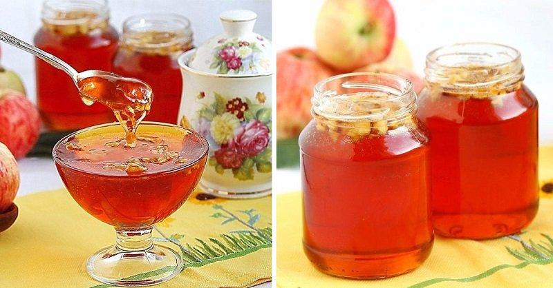 как сделать желе из яблок без желатина