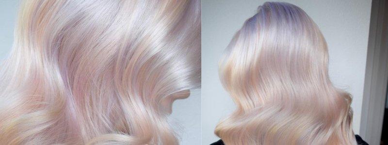 жемчужный цвет на волосах