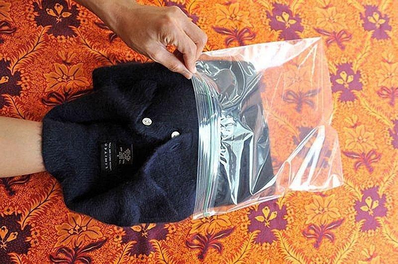 шерстяной свитер в пакете
