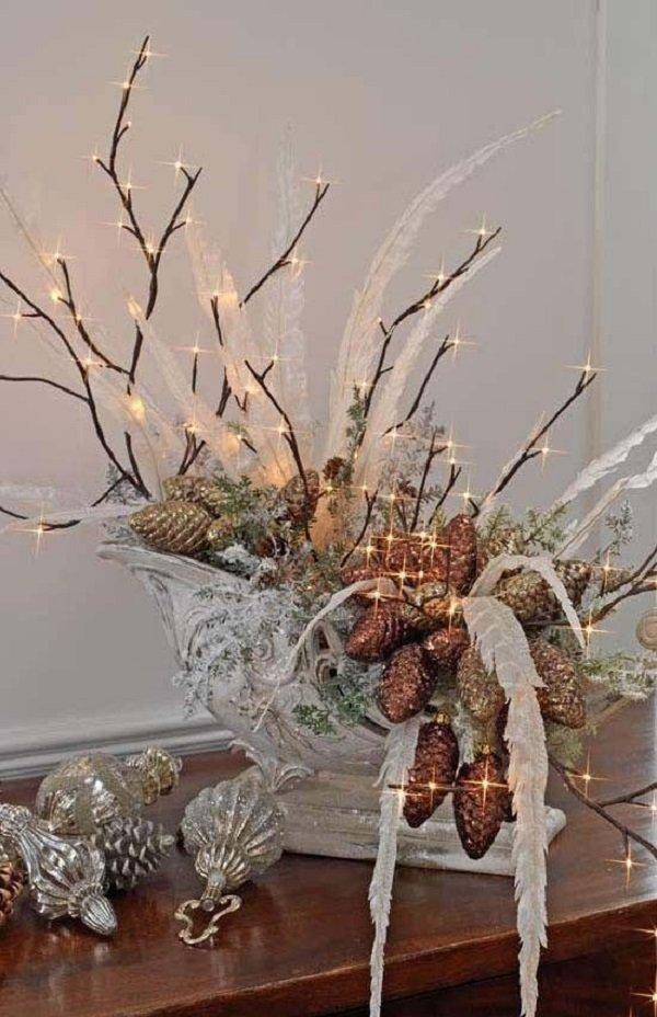 зимние композиции со свечами